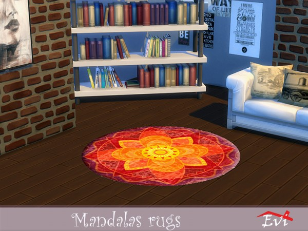The Sims Resource: Mandalas rugs by evi