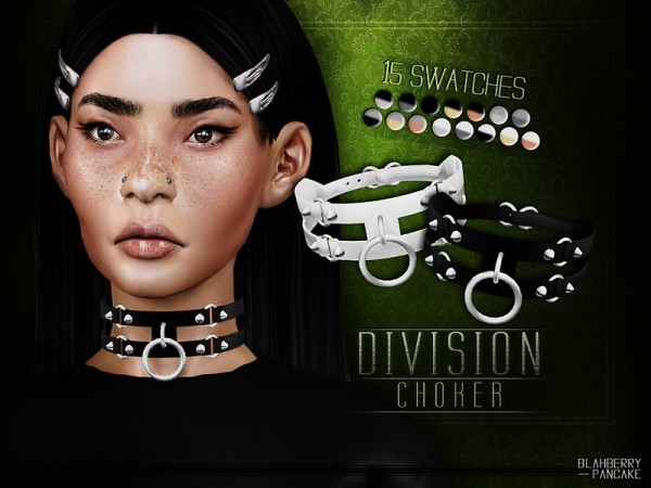 The Sims Resource: Division Choker by Blahberry Pancake