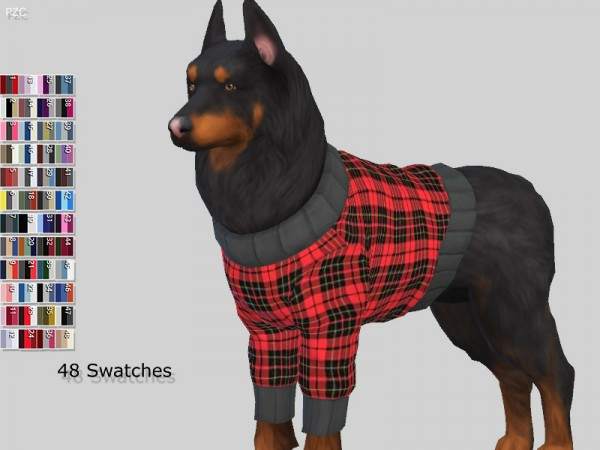 The Sims Resource: Large Dog Sweaters Collection by Pinkzombiecupcakes