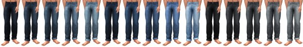 Simsational designs: Buttoned Up   Baggy and Cuffed Jeans