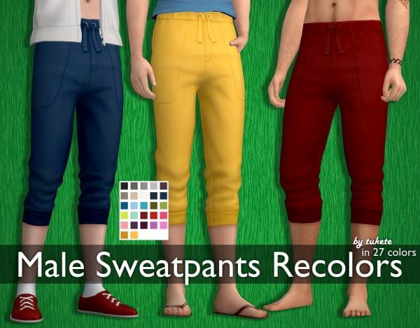 Tukete: Male Sweatpants Recolors