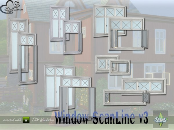 The Sims Resource: Window Set ScanLine v3 by BuffSumm