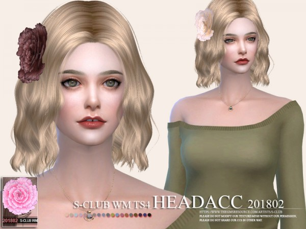 The Sims Resource: Headacc F 201802 by S Club