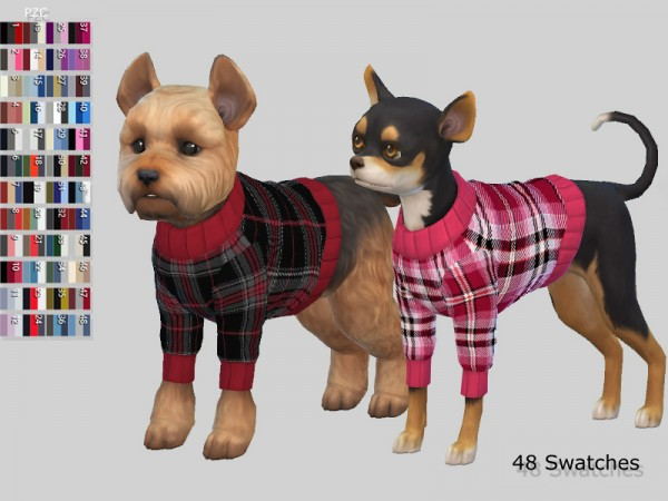 The Sims Resource: Burberry Small Dog Sweaters Collection by Pinkzombiecupcakes