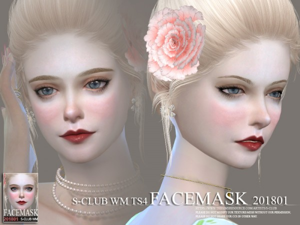 The Sims Resource: Facemask 201801 by S Club