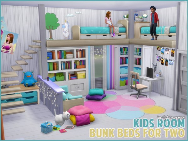 Akisima Sims Blog Children S Room Bunk Beds For Two