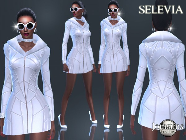 The Sims Resource: Selevia dress by jomsims