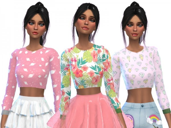 The Sims Resource: Crop Tops Pack Two by Wicked Kittie