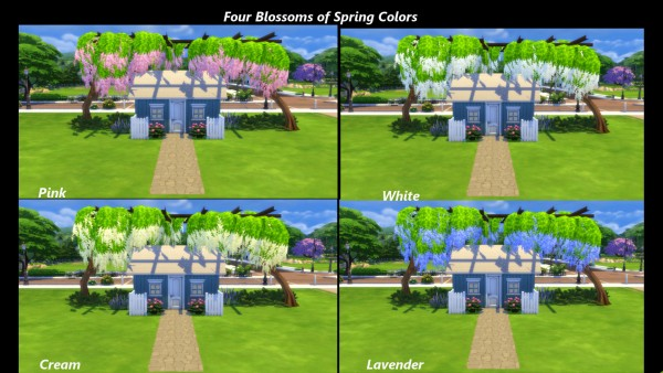 Mod The Sims: Four Seasons Tree Trellis by Snowhaze