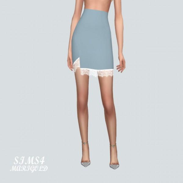 SIMS4 Marigold: Lace Mini Skirt