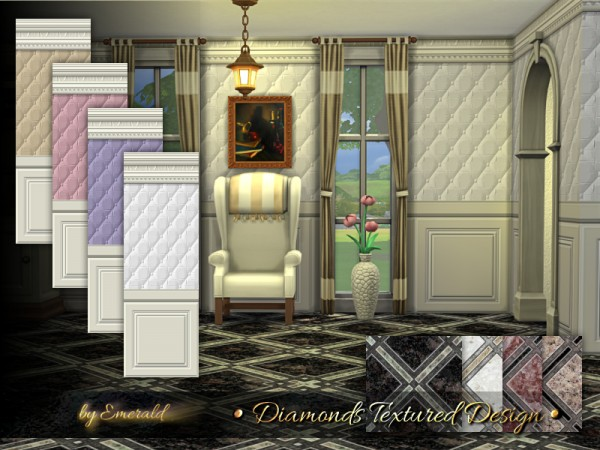 The Sims Resource: Diamonds Textured Design by emerald