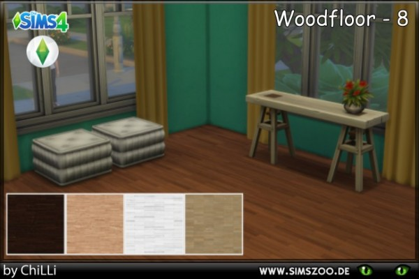 Blackys Sims 4 Zoo: Wood Floor 8 by Schnattchen