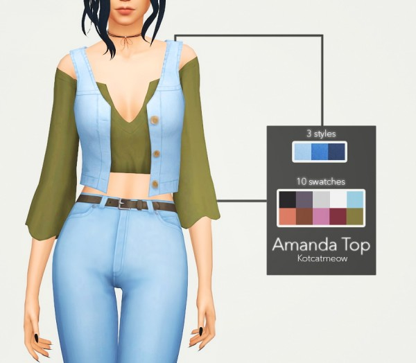 Kot Cat: Amanda top