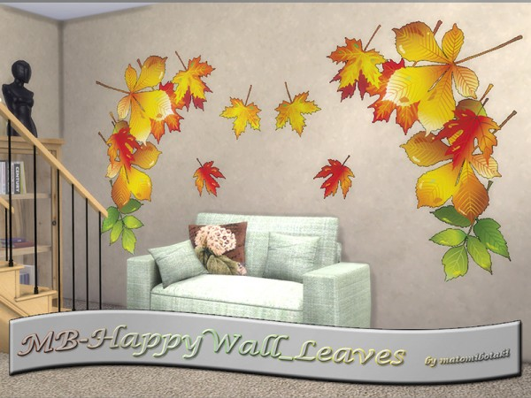 The Sims Resource: Happy Wall Leaves set by matomibotaki