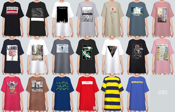 SIMS4 Marigold: Boxy T Shirts