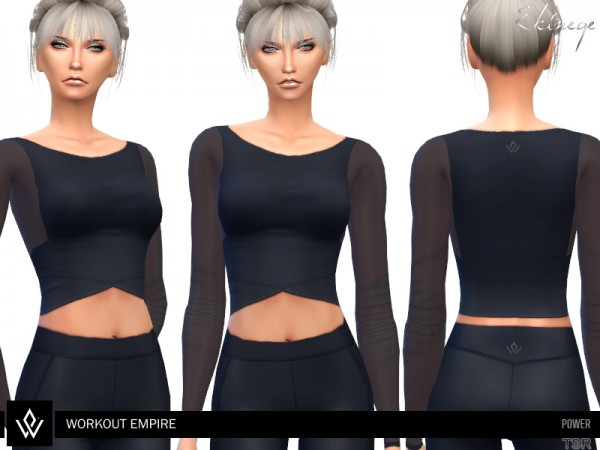 The Sims Resource: Workout Empire   Power   Cropped Top by ekinege