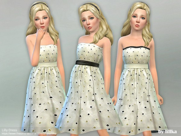 The Sims Resource: Lilly Dress by lillka