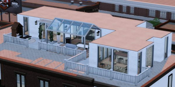 Simsworkshop: White Noise house by catsblob