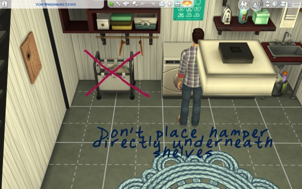 Mod The Sims: Functional Parenthood Hamper by Athena Apollos