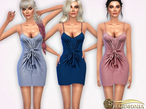 The Sims Resource: Knot Interested Wrap Dress by Harmonia