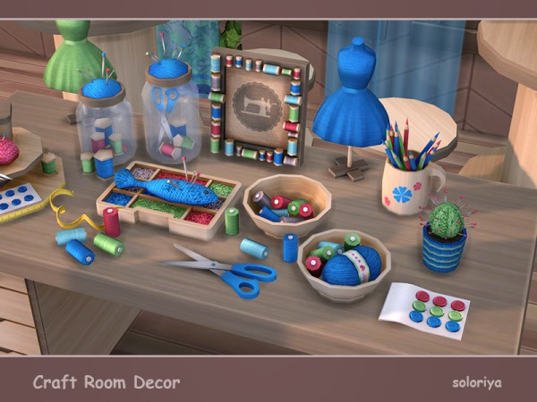The Sims Resource: Craft Room Decor by soloriya