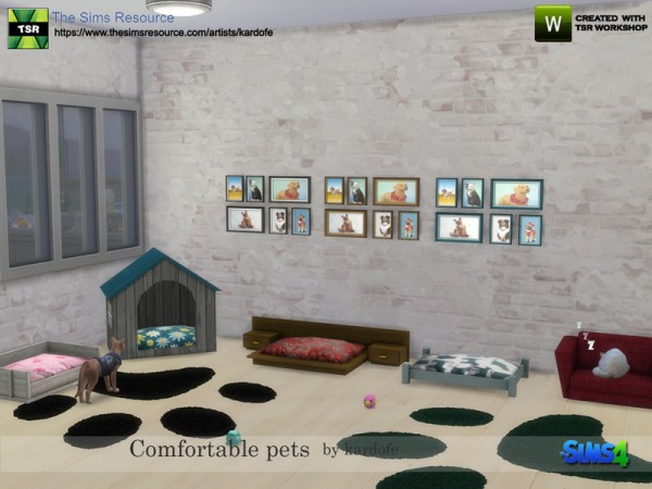The Sims Resource: Comfortable pets by Kardofe