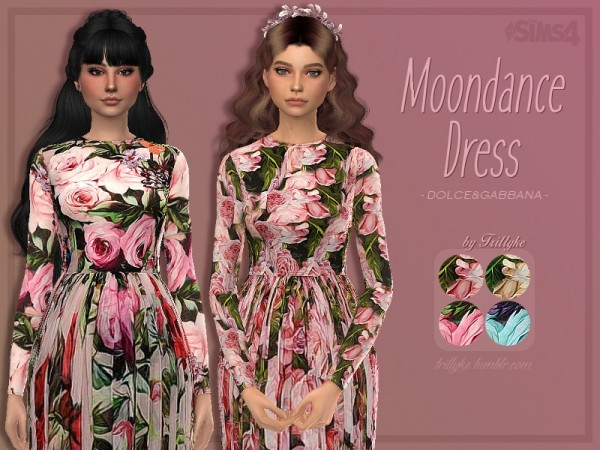 The Sims Resource: Moondance Dress by Trillyke