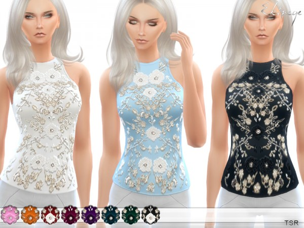 The Sims Resource: Embellished Top by ekinege