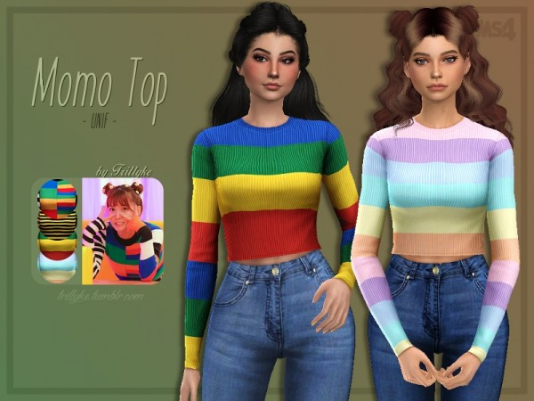 The Sims Resource: Momo Top by Trillyke