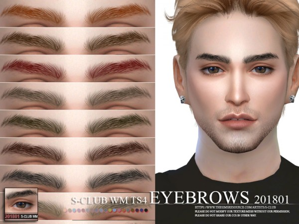 The Sims Resource: Eyebrows 201801 by S Club