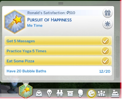 Mod The Sims: Pursuit of Happiness Aspiration by idioteque