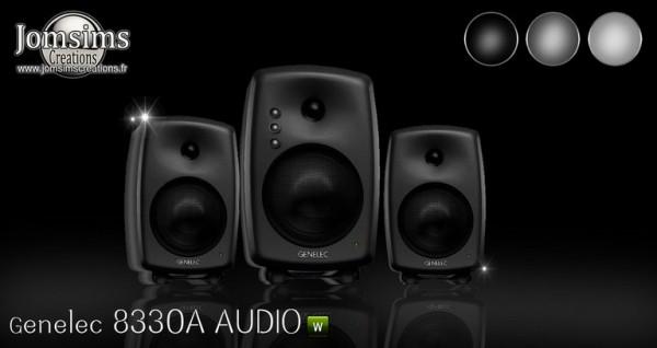 Jom Sims Creations: Genelec 8330A audio