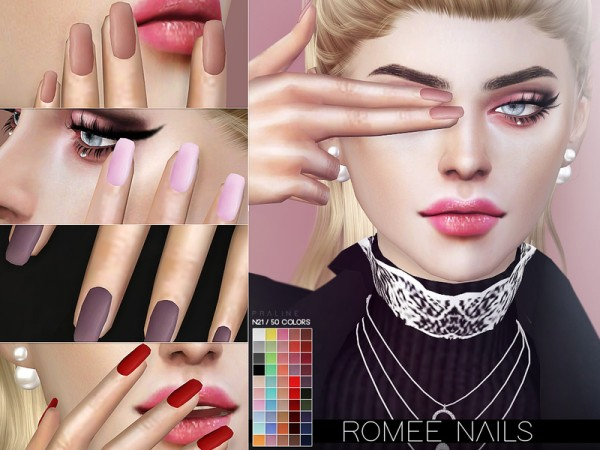 The Sims Resource: Romee Nails N21 by Pralinesims