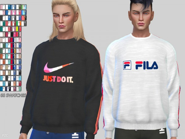 The Sims Resource: Sporty Sweatshirts 056 by Pinkzombiecupcakes