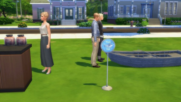 Mod The Sims: Produce and Fish Market Themed Restock Sign Overrides by Snowhaze