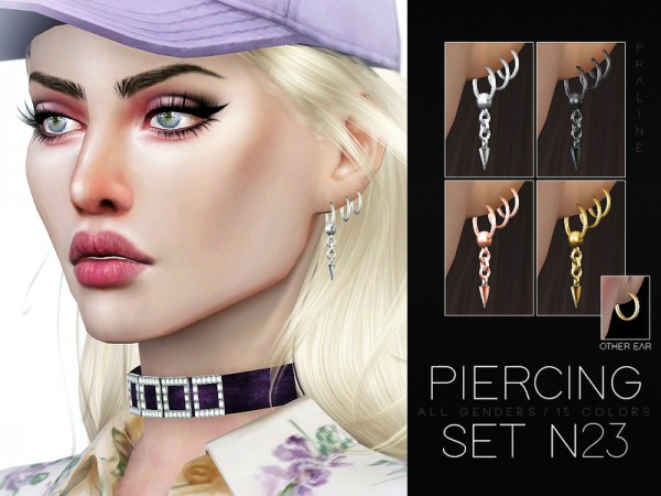 The Sims Resource: Piercing Set N23 by Pralinesims