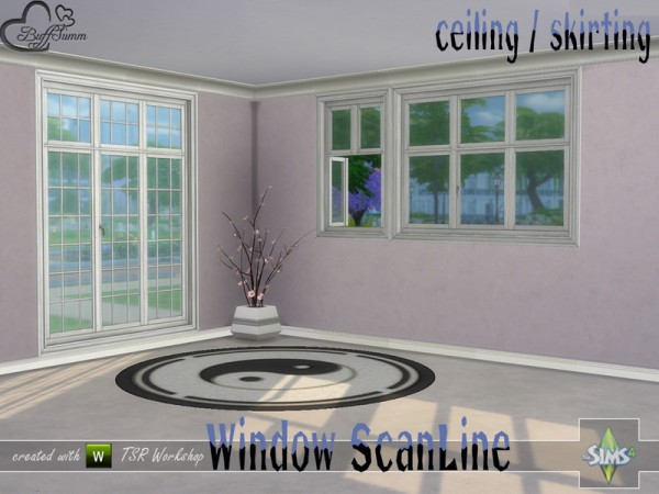 The Sims Resource: Window Set Scan Line Ceiling and Skirting by BuffSumm