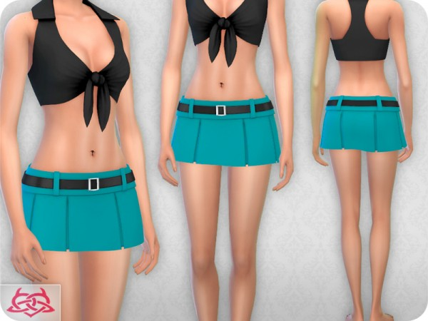 The Sims Resource: Pleated Mini 2 recolored 2 by Colores Urbanos