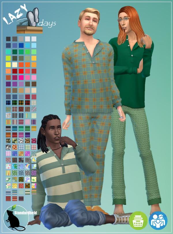 Simsworkshop: Lazy Days pajamas set by Standardheld