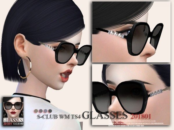 The Sims Resource: Glasses F 201801 by S Club