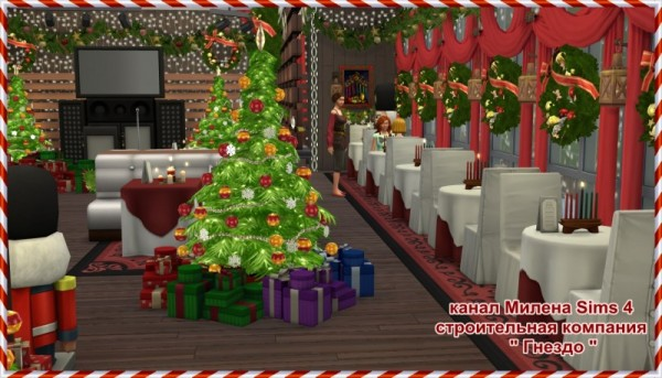 Sims 3 by Mulena: Restaurant Christmas