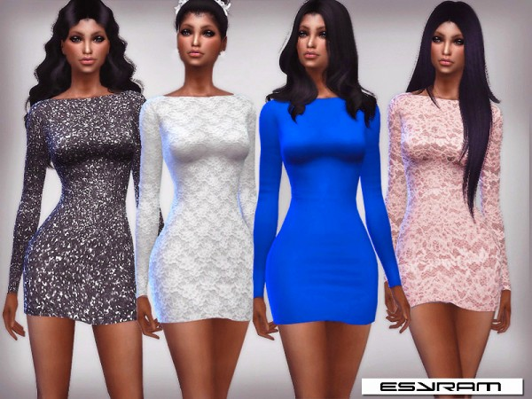 The Sims Resource: Aline Mini Dress Set by EsyraM