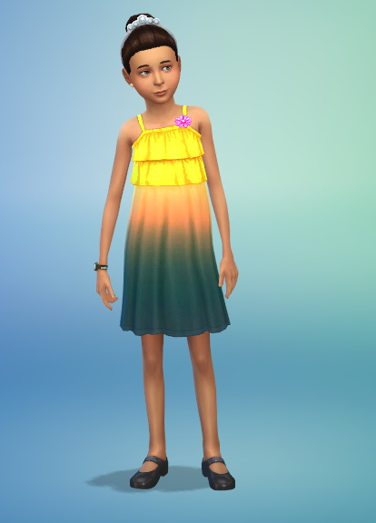Simsworkshop: Dip Dyed Dress by Fruitcakesimmer