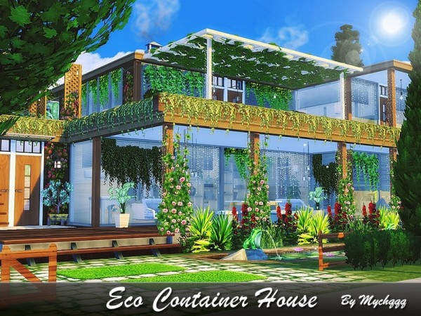 The Sims Resource: Eco Container House by MychQQQ