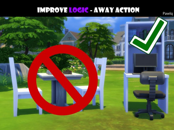 Mod The Sims: Improve Logic skill   away action Pawlq