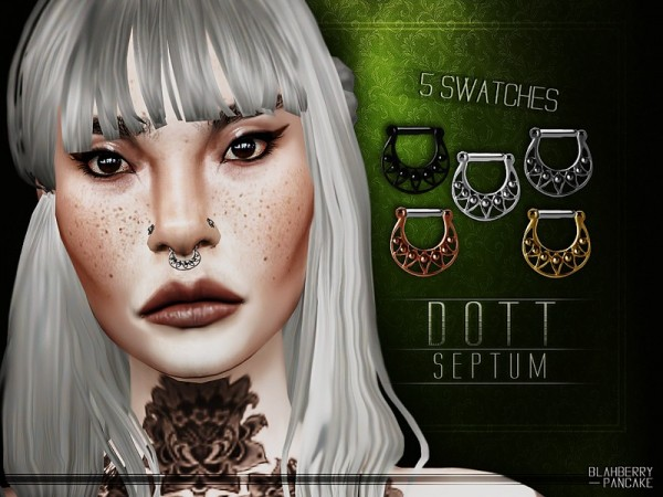 The Sims Resource: Dott Septum by Blahberry Pancake