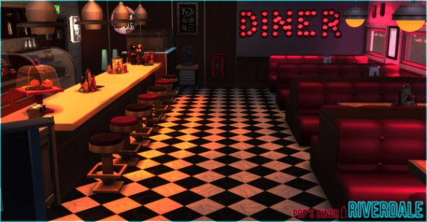 Akisima Sims Blog Riverdale Pop S Diner Sims 4 Downloads