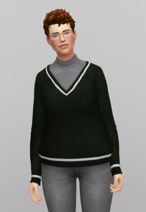 Rusty Nail: V neck shape knit