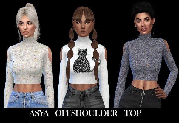 Leo 4 Sims: Asya top recolored