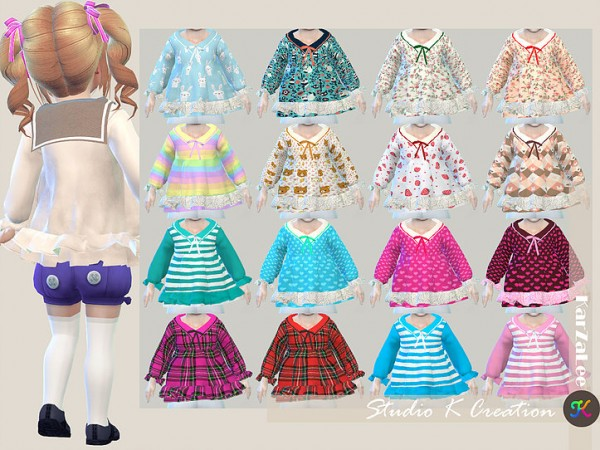 Studio K Creation: Sailor collar top for toddler